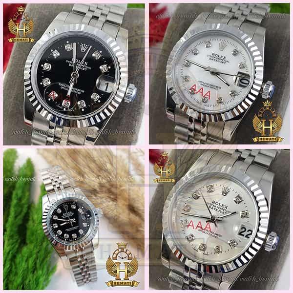 خرید ساعت زنانه رولکس دیت جاست Rolex Datejust RODJL26100 نقره ای ، قطر 26 میلیمتر