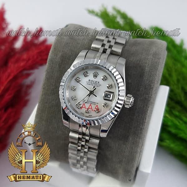 خرید اینترنتی ساعت زنانه رولکس دیت جاست Rolex Datejust RODJL26100 نقره ای ، قطر 26 میلیمتر