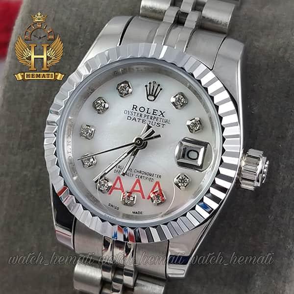 ساعت مچی زنانه رولکس دیت جاست Rolex Datejust RODJL26100 نقره ای ، قطر 26 میلیمتر