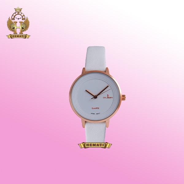 ساعت زنانه دخترانه کلبرت 0101L COLBERT کلاسیک ساده پسند قاب رزگلد صفحه و بند رنگ ست در رنگ سفید مشکی