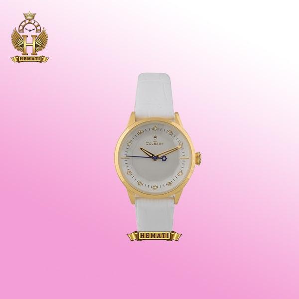 خرید ساعت دخترانه کلبرت 0112L COLBERT قاب طلایی بند سفید ساده و لاکچری فانتزی