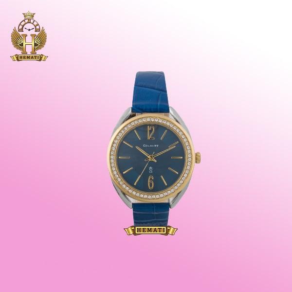 خرید ساعت زنانه دخترانه کلبرت 0115L COLBERT قاب نقره ای طلایی و صفحه و بند آبی