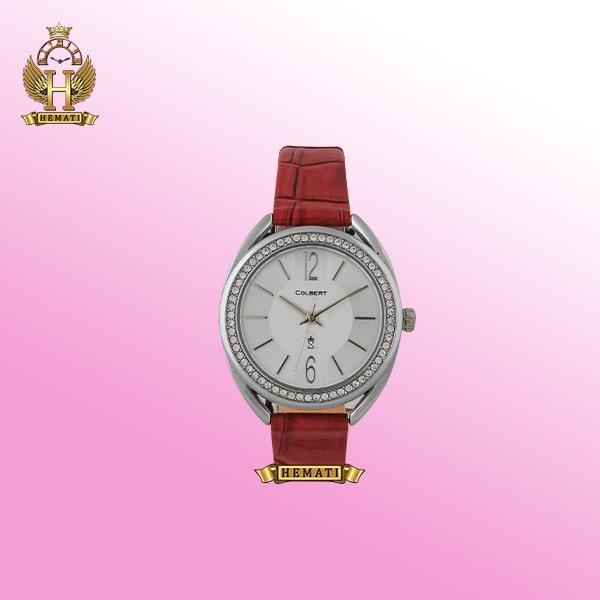 خرید ساعت زنانه دخترانه کلبرت 0115L COLBERT قاب نقره ای بند قهوه ای