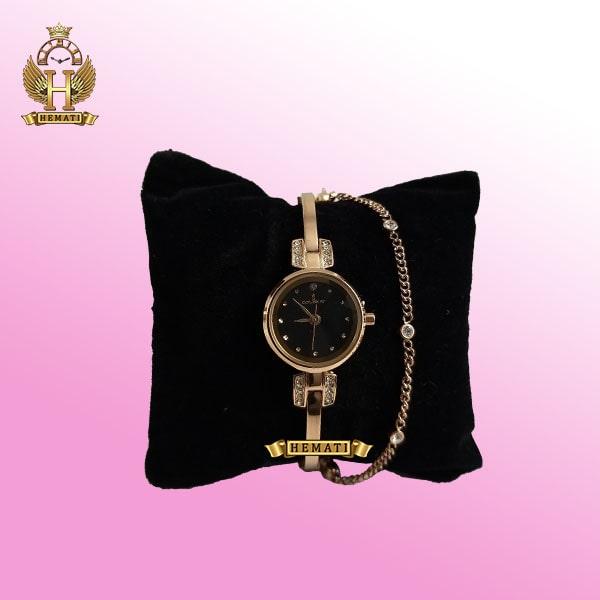COLBERT 0186L ساعتمچی اورجینال کلبرت زنانه رنگ رزگلد مدل دستبندی در رنگبندی صفحه سبز،مشکی،طوسی،زرشکی،سرمه ای،نقره ای ،همراه گارانتی شرکتی
