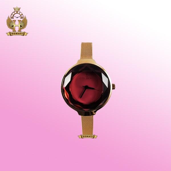 ساعت زنانه کلبرت مدل 0187L رزگلد بند حصیری در رنگ صفحه های متنوع
