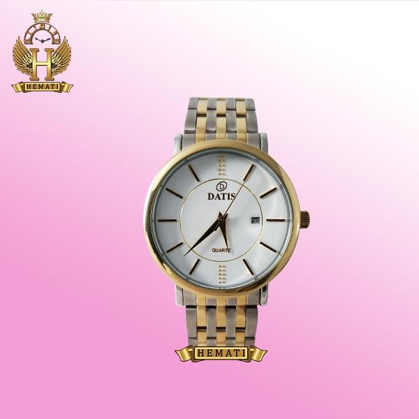 خرید ساعت ارزان داتیس مردانه مدل Datis D8215G نقره ای-طلایی