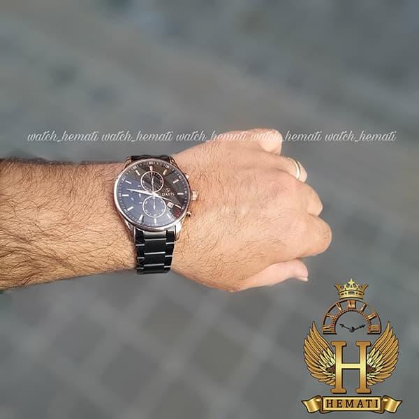 قیمت ساعت داتیس مردانه 3 موتوره کورنوگراف مدل datis d8297fg قاب طلایی بند مشکی