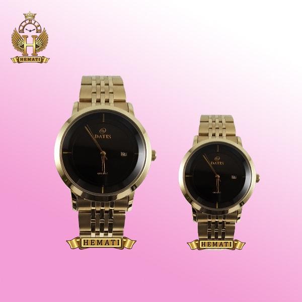 ست ساعت مردانه و زنانه مدل Datis D8304LG رنگ طلایی اورجینال
