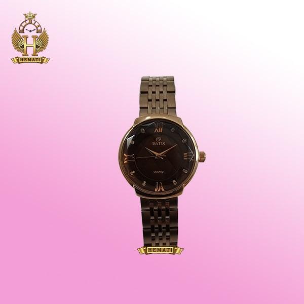 خرید آنلاین ساعت زنانه داتیس مدل D8353AL نسکافه ای بند و قاب کافی