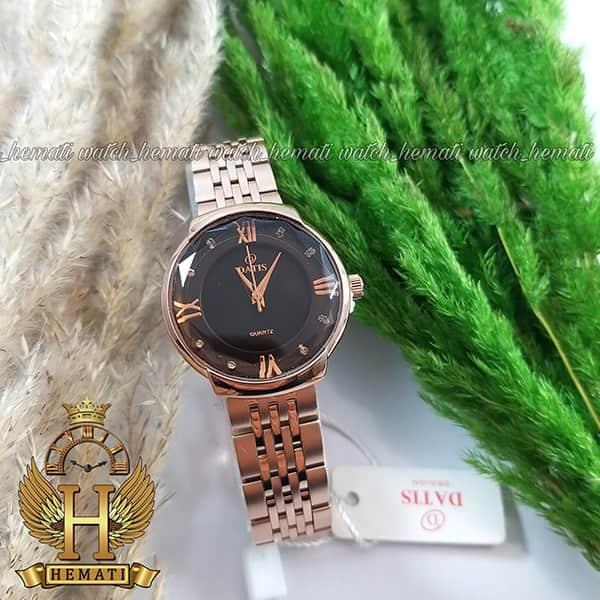 خرید ساعت زنانه داتیس رزگلد مدل DATIS D8353AL شیشه کافی