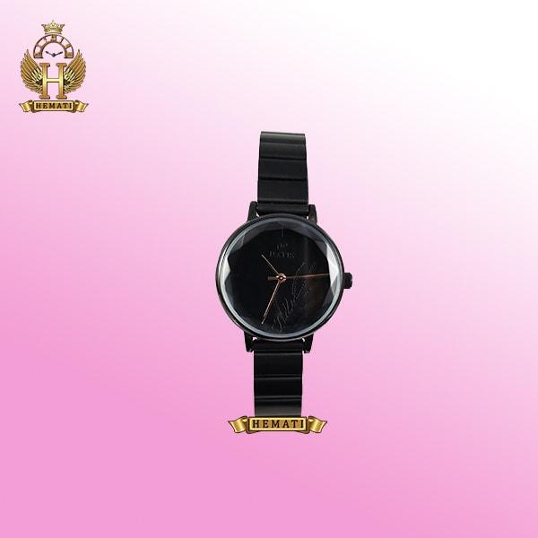 خرید ساعت زنانه داتیس D8371EL مشکی قاب و بند و صفحه ساعت مشکی اورجینال
