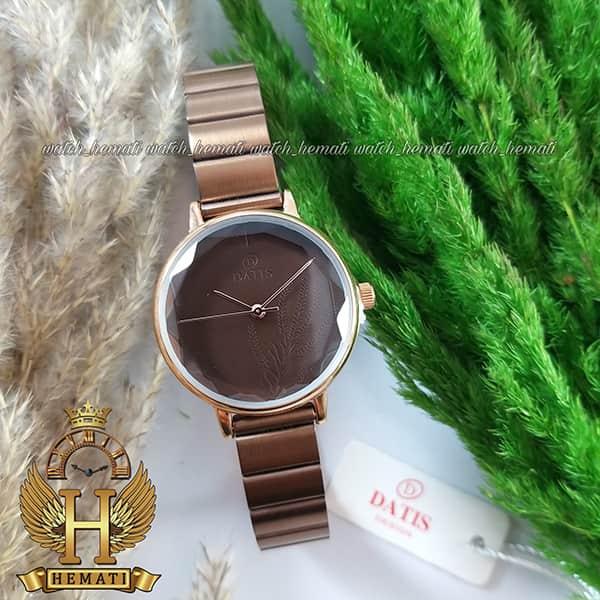خرید ساعت زنانه داتیس رنگ کافی DATIS D8371EL
