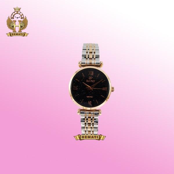 ساعت زنانه داتیس مدل D8373FL نقره ای-رزگلد شیشه نسکافه ای