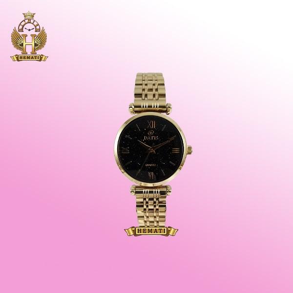 ساعت مچی زنانه داتیس مدل Datis D8373FL طلایی صفحه مشکی اورجینال