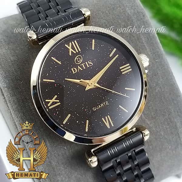 خرید ساعت زنانه داتیس مدل DATIS D8373FL مشکی طلایی