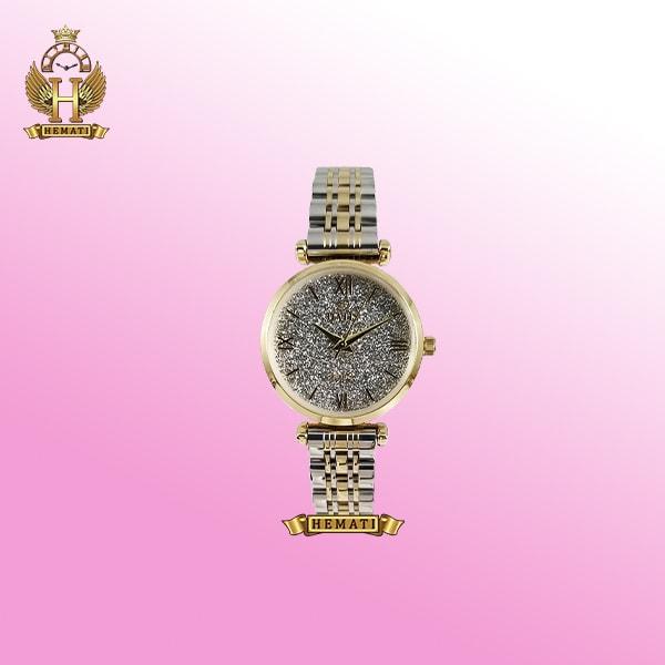 ساعت زنانه داتیس مدل Datis D8373FL نقره ای-طلایی با شیشه بی رنگ ساده اورجینال