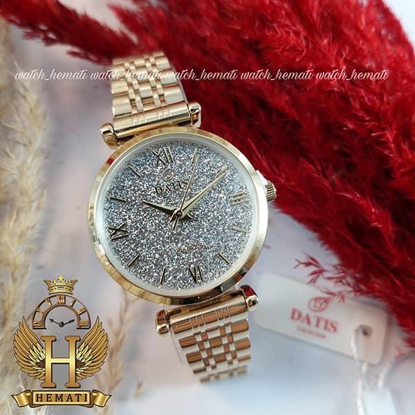 ساعت زنانه داتیس طلایی مدل DATIS D8373FL