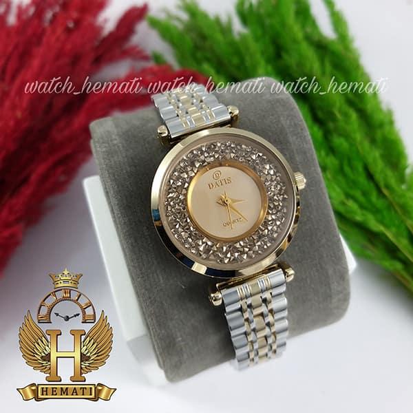 ساعت زنانه داتیس اورجینال مدل DATIS D8374DL نقره ای طلایی