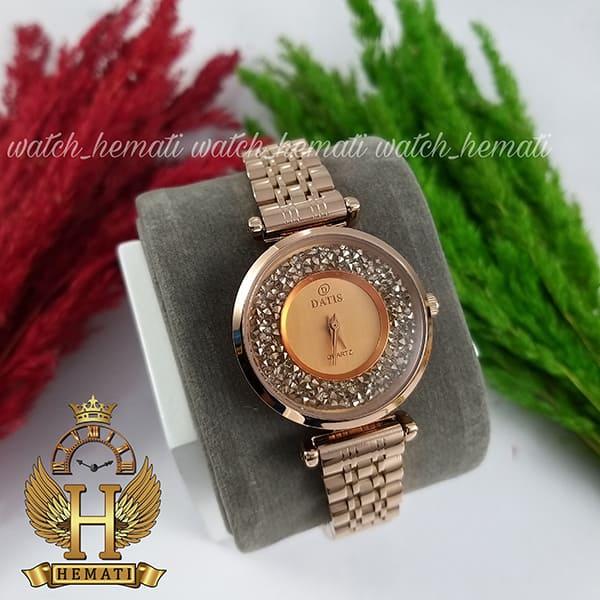 خرید ساعت زنانه داتیس مدل DATIS D8374DL رزگلد شیشه کافی
