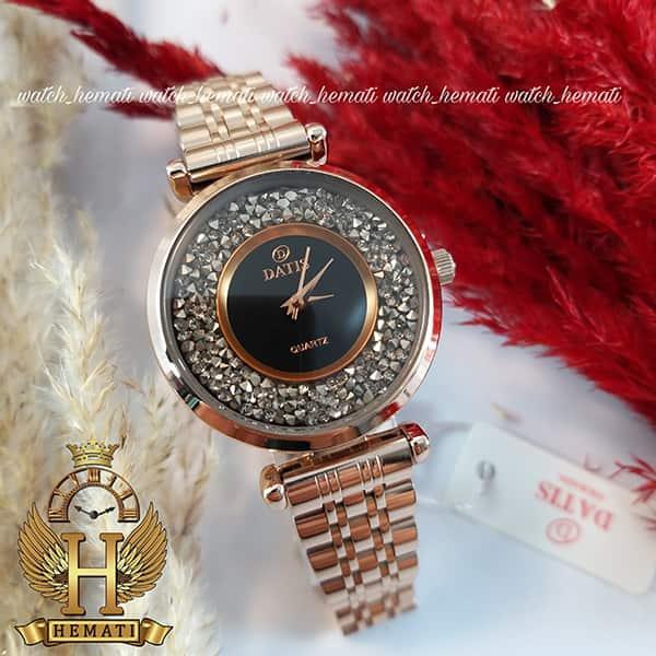 خرید ساعت مچی زنانه داتیس مدل DATIS D8374DL رزگلد شیشه کافی