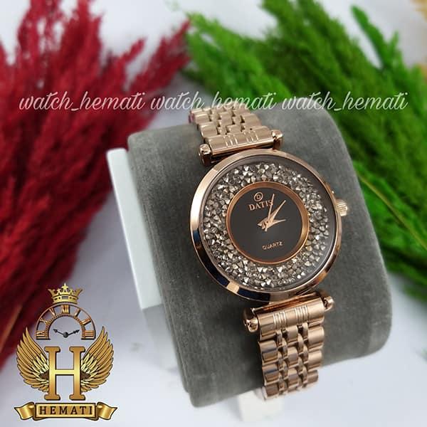 خرید اینترنتی ساعت زنانه داتیس رنگ رزگلد مدل DATIS D8374DL