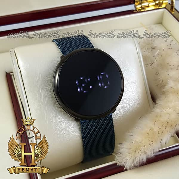ساعت اسپرت LED ال ای دی داتیس مدل Datis D8384G قاب مشکی با بند سرمه ای اورجینال صفحه لمسی