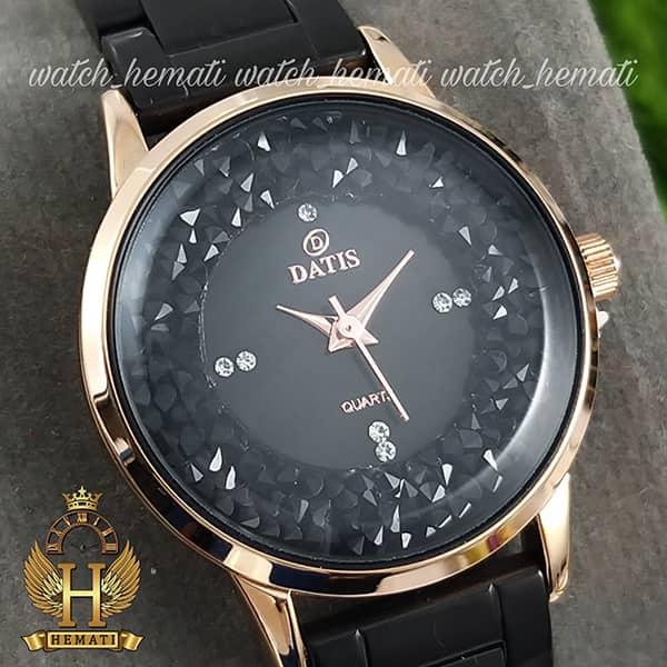 قیمت ساعت زنانه داتیس اورجینال مدل DATIS D8417CL مشکی رزگلد