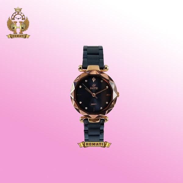 خرید ساعت زنانه داتیس مدل D8435EL قاب رزگلد بند سرمه ای اورجینال