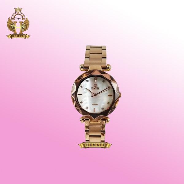 خرید ساعت داتیس زنانه DATIS D8435EL رزگلد عقربه ای اورجینال