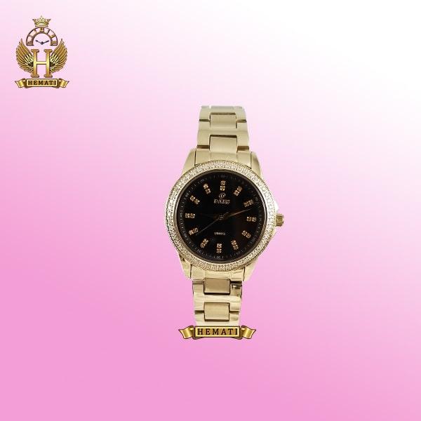 خرید ساعت زنانه داتیس مدل D8443L طلایی شیشه نسکافه ای اورجینال
