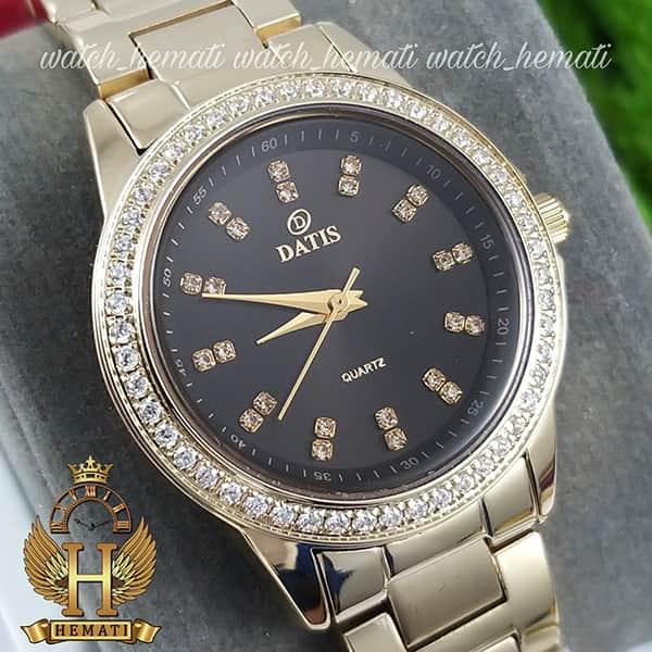 خرید اینترنتی ساعت زنانه داتیس مدل DATIS D8443L طلایی شیشه کافی