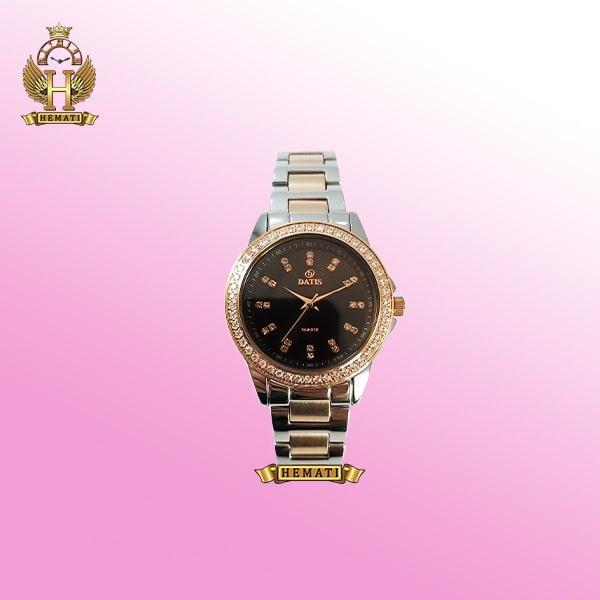 خرید ساعت زنانه داتیس Datis D8443L نقره ای-رزگلد شیشه نسکافه ای اورجینال