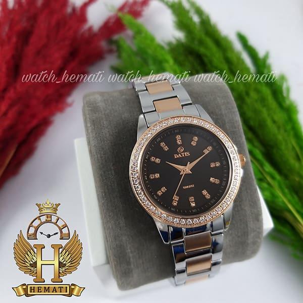 خرید اینترنتی ساعت زنانه داتیس اورجینال مدل DATIS D8443L نقره ای رزگلد شیشه کافی