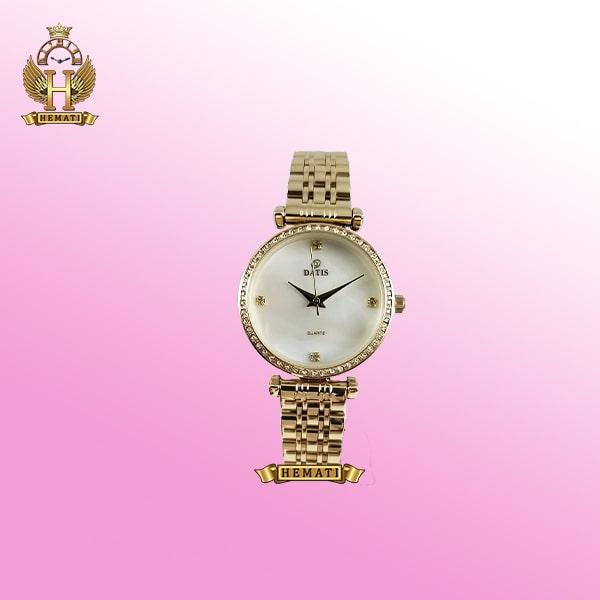 خرید ساعت زنانه داتیس D8456L طلایی صفحه ساده عقربه ای اورجینال