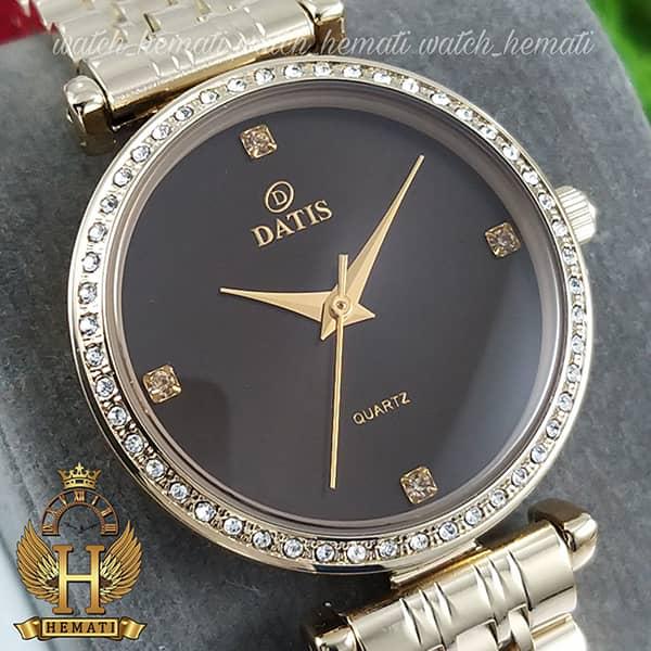 خرید ساعت زنانه داتیس اورجینال مدل DATIS D8456L طلایی شیشه کافی