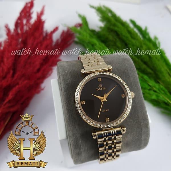 خرید اینترنتی ساعت زنانه داتیس اورجینال مدل DATIS D8456L طلایی شیشه کافی