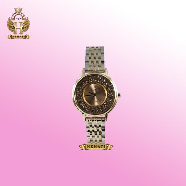 خرید ساعت مچی زنانه داتیس D8461L بند نقره ای استیل قاب طلایی