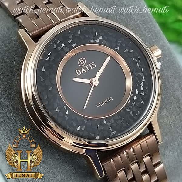 قیمت ساعت زنانه داتیس اورجینال مدل DATIS D8461L کافی نگین ها مشکی سوارفسکی