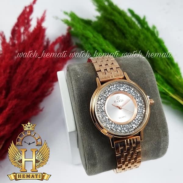 خرید ساعت زنانه داتیس اورجینال مدل DATIS D8461L رزگلد نگین ها سوارفسکی