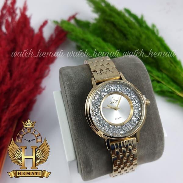 قیمت ساعت زنانه داتیس اورجینال مدل DATIS D8461L طلایی نگین ها سوارفسکی