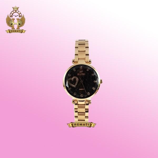 ساعت زنانه داتیس مدل D8463L رزگلد صفحه مشکی اورجینال