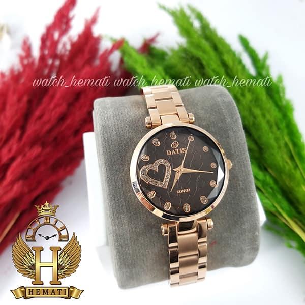 قیمت ساعت زنانه داتیس اورجینال مدل DATIS D8463L رزگلد شیشه بی رنگ