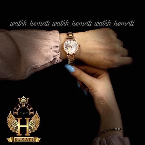 قیمت ساعت مچی زنانه داتیس اورجینال مدل DATIS D8463L رزگلد شیشه بی رنگ