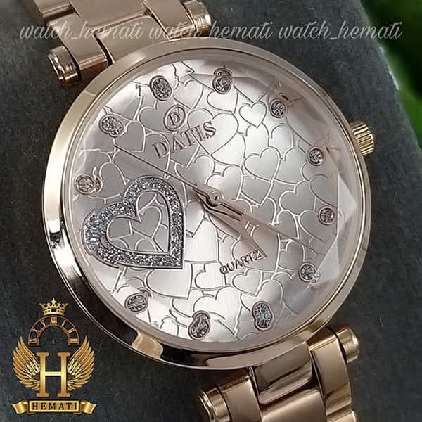 خرید اینترنتی ساعت زنانه داتیس اورجینال مدل DATIS D8463L رزگلد شیشه بی رنگ