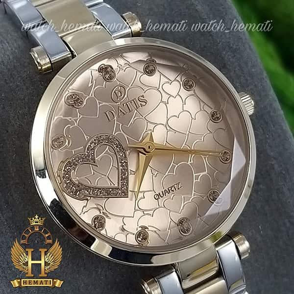 قیمت ساعت زنانه داتیس اورجینال مدل DATIS D8463L نقره ای طلایی شیشه کافی