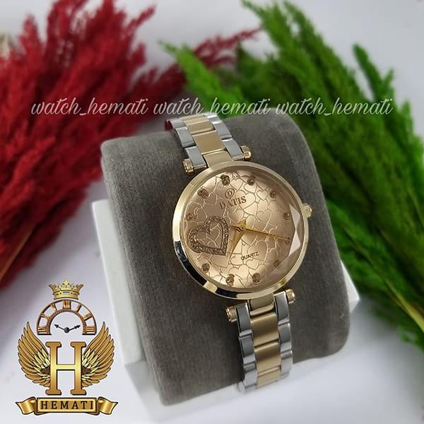 خرید ساعت مچی زنانه داتیس اورجینال مدل DATIS D8463L نقره ای طلایی شیشه کافی