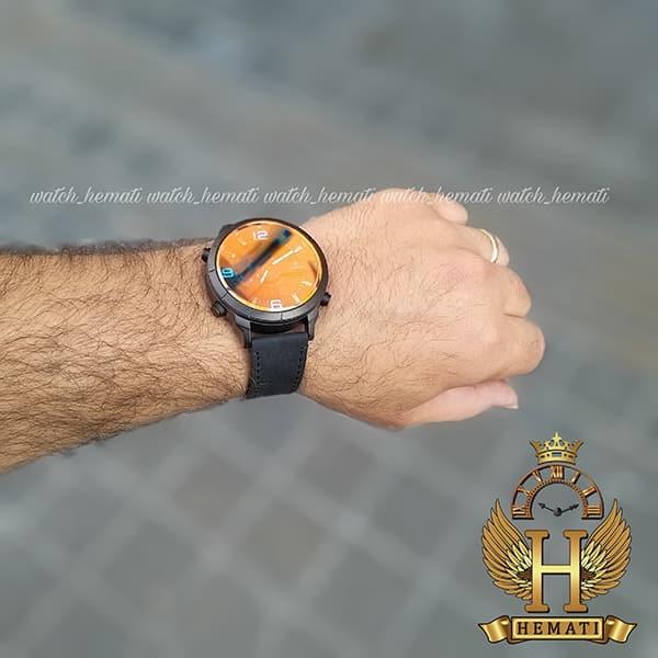 خرید ساعت مردانه داتیس دو زمانه ساعت جهانی مدل datis d8465ag رنگ مشکی با شیشه آبی و با بند چرم مشکی