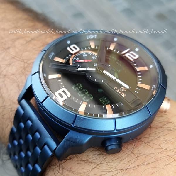 خرید اینترنتی ساعت مردانه داتیس مدل D8465AG دوزمانه سرمه ای اورجینال