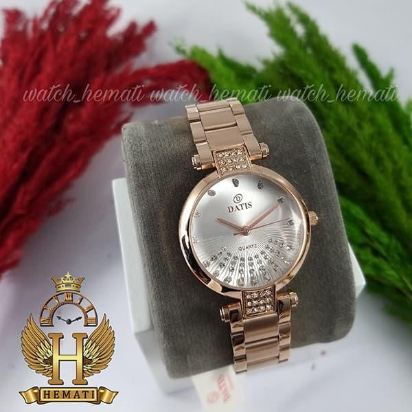 خرید انلاین ساعت زنانه داتیس مدل Datis D8465L رزگلد صفحه شیشه ای ساده
