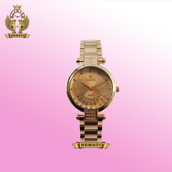 خرید ساعت زنانه داتیس مدل D8465L رزگلد شیشه نسکافه ای